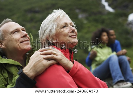 Middle-aged Couple on Vacation - stock photo