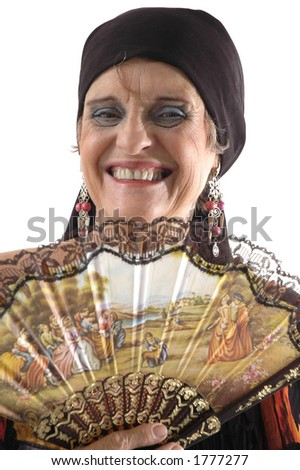 Middle-aged Woman Portrait - stock photo