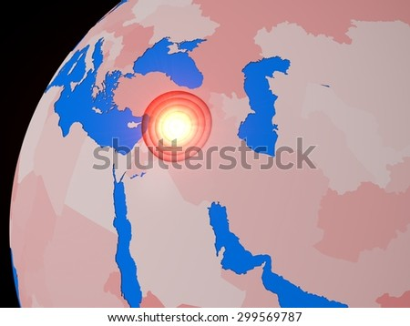 middle east war spot - stock photo