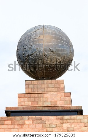 Middle Of The World, A National Landmark Located North Of Quito, Ecuador  - stock photo