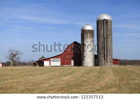 Middle Tennessee Farms and Barns - stock photo