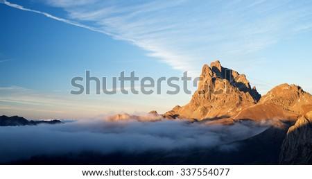 Midi Dossau, Ossau Valley, Pyrenees National Park, Pyrenees, France. - stock photo