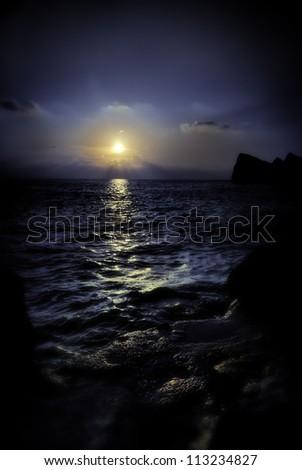 Midnight Sunset - stock photo