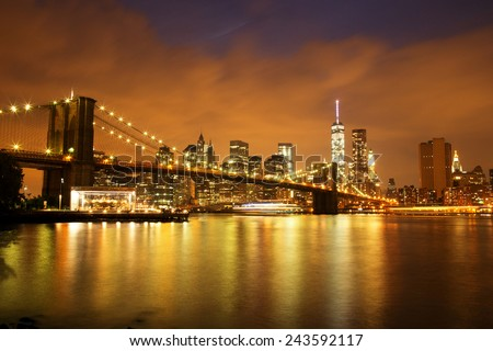 Midtown Manhattan View from Central Park, New York City - stock photo