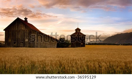 Midwest Barns - stock photo