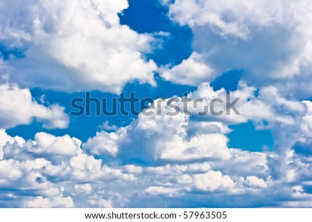 Mighty clouds - stock photo