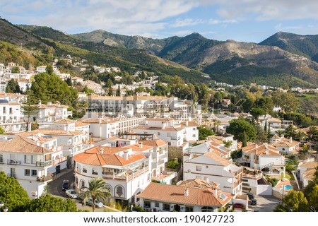 Mijas in Malaga, Andalucia, Spain - stock photo