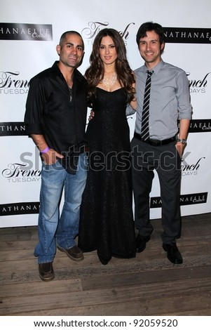 Mike Kasem, Kerri Kasem, Josh Robert Thompson  at the Nathanaelle Fashion Show, Skybar, West Hollywood, CA. 03-15-11 - stock photo