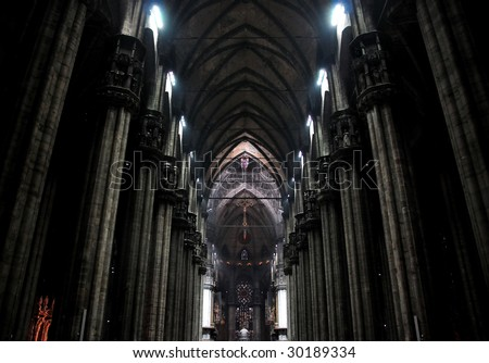 Milan Cathedral Interior (Italy) - stock photo