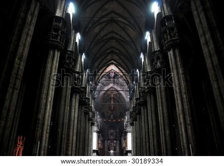 Milan Cathedral Interior (Italy) - stock photo