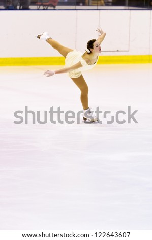 MILAN-DECEMBER 22: Elettra Maria Olivotto   perform in Italian Championships of Figure Skating 2012 on December 22 , 2012 in Milan, Italy - stock photo