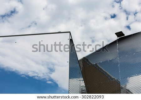 MILAN, ITALY - JULY 29: Architectural detail of a pavilion at Expo, universal exposition on the theme of food on JULY 29, 2015 in Milan. - stock photo