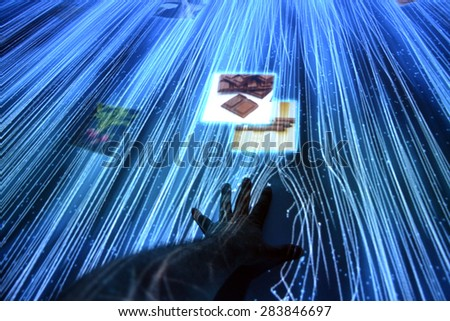MILAN, ITALY - May 11: Inside the Japan pavilion at Expo, universal exposition on the theme of food on  May 11, 2015 in Milan, Italy. - stock photo