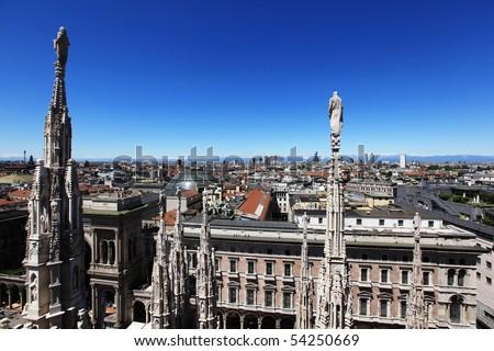 Milan, landscape - stock photo