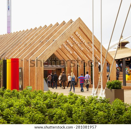 MILAN, MAY 22, 2015: Belgium Pavilion  at Expo 2015 in MILAN, ITALY - stock photo