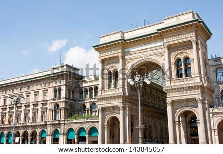Milan shopping centre - stock photo