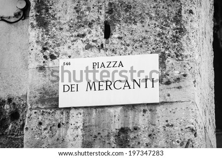 Milan street sign - stock photo
