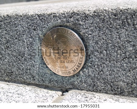 mile marker - stock photo