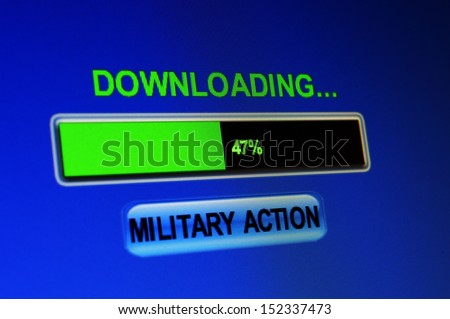 Military action - stock photo