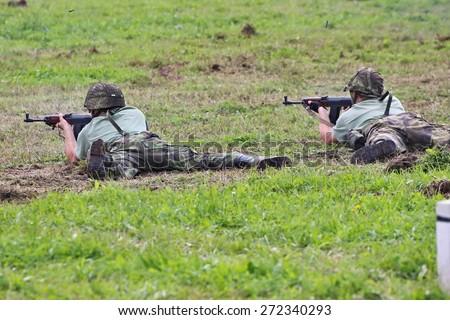 "military action ""Cihelna"", Kraliky, Czech republic - stock photo"