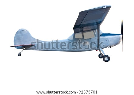 Military airplane isolated on white background. - stock photo
