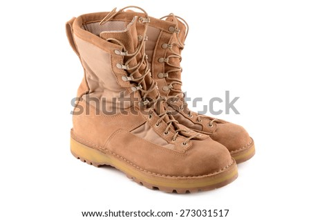 military boots - stock photo
