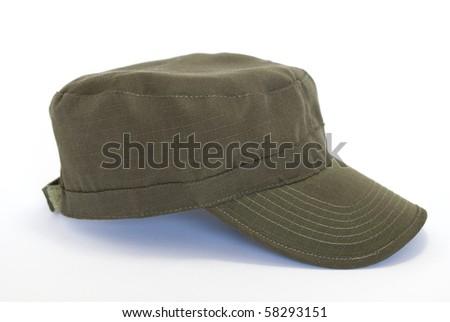 military cap - stock photo