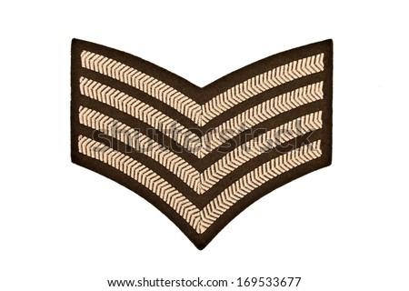 military chevrons - stock photo