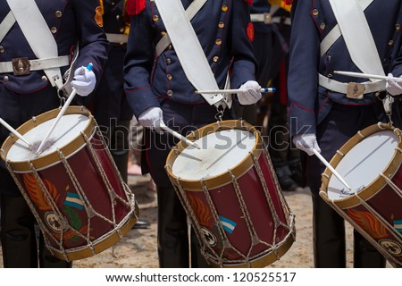 Military drummer - stock photo