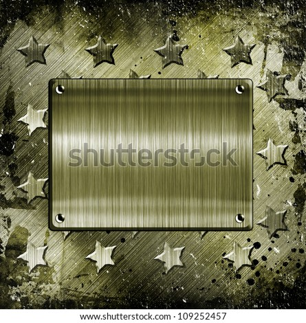 Military Grunge With place for text - stock photo