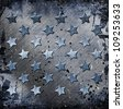 Military Grunge With Stars - stock photo