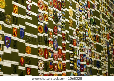 Military patches - stock photo