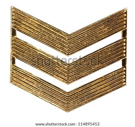 military rank of sergeant - stock photo