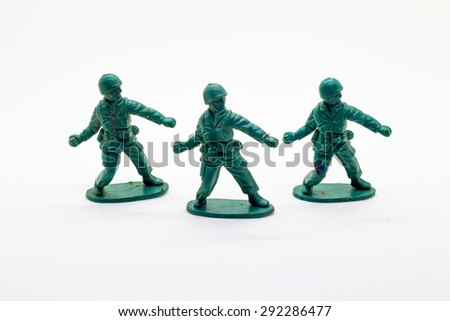 military toy soldiers  - stock photo