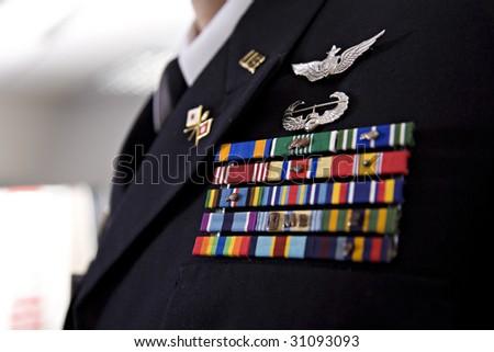 Military Uniform Officer - stock photo