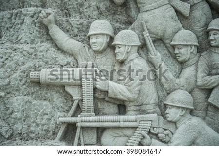 Military War World War II Japan, Thailand ,  World War II Memorial  - stock photo