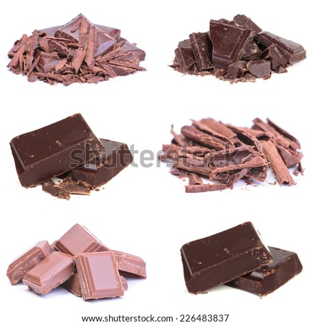Milk and dark chocolate - stock photo