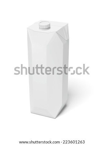 Milk Carton Package  - stock photo