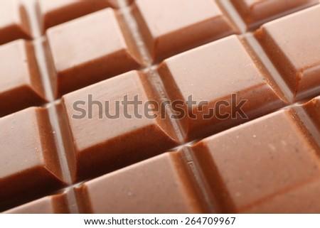 Milk chocolate bar close up - stock photo