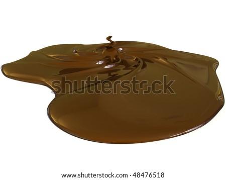 milk chocolate on white background - stock photo
