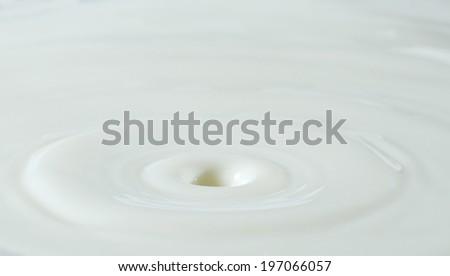 milk drop or white liquid drop - stock photo