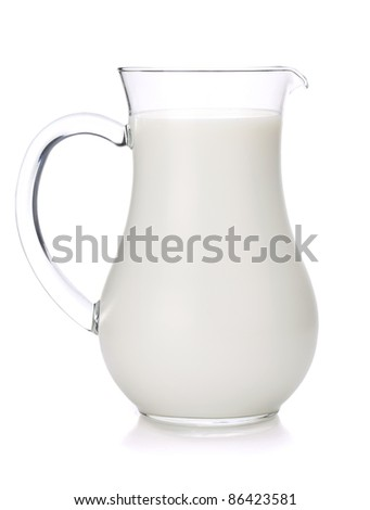 Milk jug. Isolated on white background - stock photo