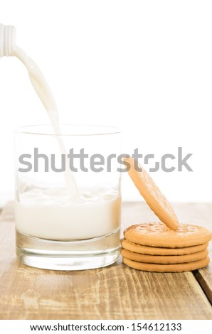 Milk pretzels on a white background - stock photo