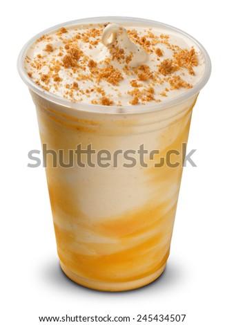 Milk shake isolated on white - stock photo