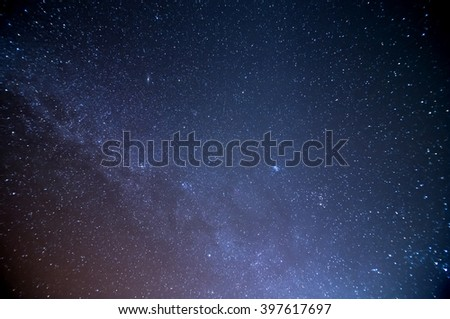 milky way galaxy - stock photo