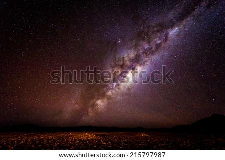 Milky Way Galaxy From Earth - stock photo