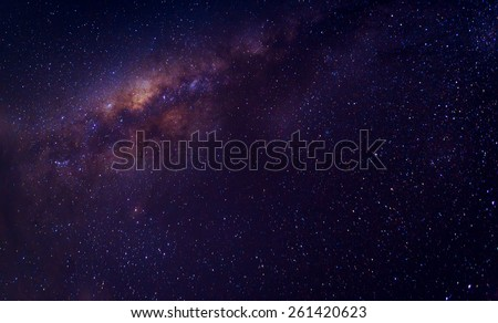 Milky way galaxy with stars and space dust in the universe - stock photo