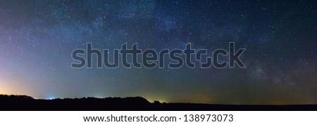 milky-way panorama - stock photo
