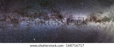 Milky Way panorama - stock photo