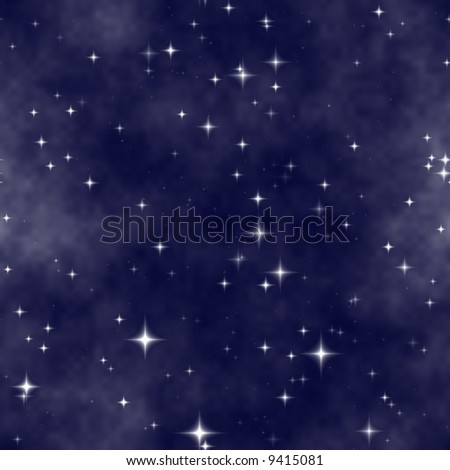 milky way starfield background - stock photo